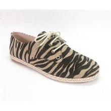 Damen Schnürer Espadrille Platform Sneaker