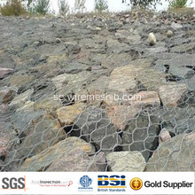 3,0 mm galvaniserad Gabion korg för River Bank Project