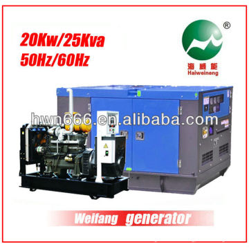 Générateur Weifang de 25kva alimenté par Weifang 4100D
