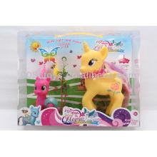 2013 novidade vinil musical e iluminação cavalo brinquedos animais