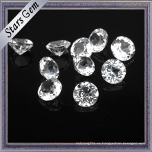 Diamante brillante redondo blanco natural de calidad superior topacio piedras preciosas