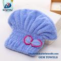 Microfiber Haar Handtuch Wrap mit Knopf schnell sterbenden Haar Kappe / Turban