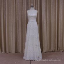 Luxury Beaded A-Line Wedding Dress with Detachable Trian
