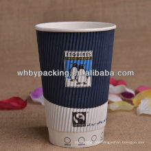 Customized Logo Printed Ripple Wall Cup