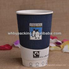 Logotipo personalizado com Ripple Wall Cup