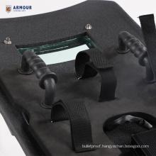 Unbreakable ballistic bulletproof 100% PE kevlar bullet proof shield with ballistic glass window