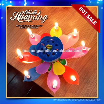 8 bougies bougies d'anniversaire musicales en arc-en-ciel