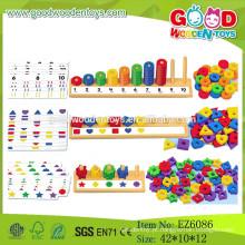 2015 mais recente Aula de Abacus Peg Board, Educational Educational Board Board, Wooden Counting Board