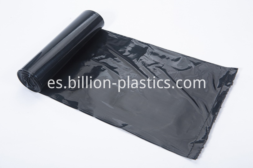 Black garbage bags for household use