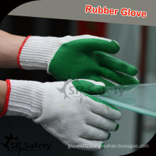 SRSAFETY 10G Green Rubber gloves/Knitted gloves