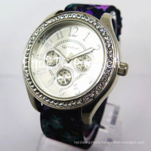 Alloy Diamond Case Watch Nylon Strap Cheap Fashion Quartz Watch (HL-CD020)