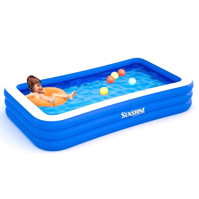 Rectangular inflatable swimming pool family dedicated