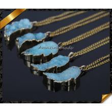 Natural Druzy Collar, Oro Druzy Collar, Pequeño Druzy Collar, Oro Druzy Joyería (CN012)