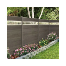 Easy Install WPC Fence Wood Plastic Composite Garden Fence