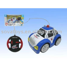 police cartoon rc car toy