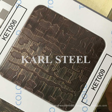 Hairline Etching Copper Stainless Steel Sheet