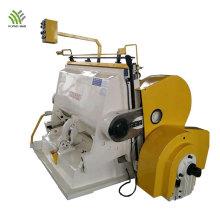Máquina troqueladora y plegadora de cartón corrugado