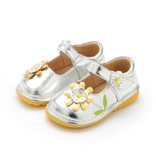 Sliver Baby Girl Schuhe Frühling Herbst 1-3y Kleinkind Schuhe