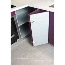 Modern Italian Purple high glossy lacquer kitchen cabinet