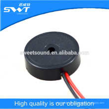 Buzzer piezoelétrico de venda direta de fábrica com fios / buzina piezoeléctrica de 14mm