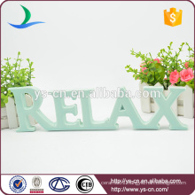 Thinner RELAX shape enamel sign for decoration