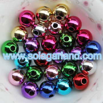 8-20MM Acryl Runde Metallic fertig Bubblegum Perlen