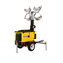 Torre de luz de emergencia de lámpara de halogenuros metálicos 4 * 1000W