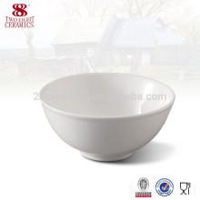 Plaque émaillée en gros et bol, bol de riz rond, bol résistant à la chaleur