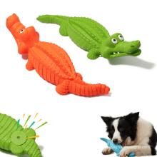 Juguetes para mascotas de cocodrilo de goma indestructible Juguetes para masticar perros