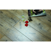8.3mm AC3 Pearl Walnut V-Grooved Waxed Edged Laminate Floor