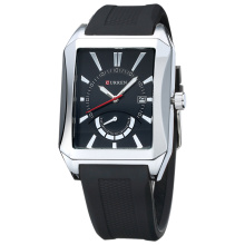 Curren rectangle quartz watch business wristwatch pour hommes d'affaires