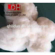 Fibre de laine de mouton blanc micron blanc
