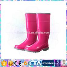 women pvc shiny high rain shoes