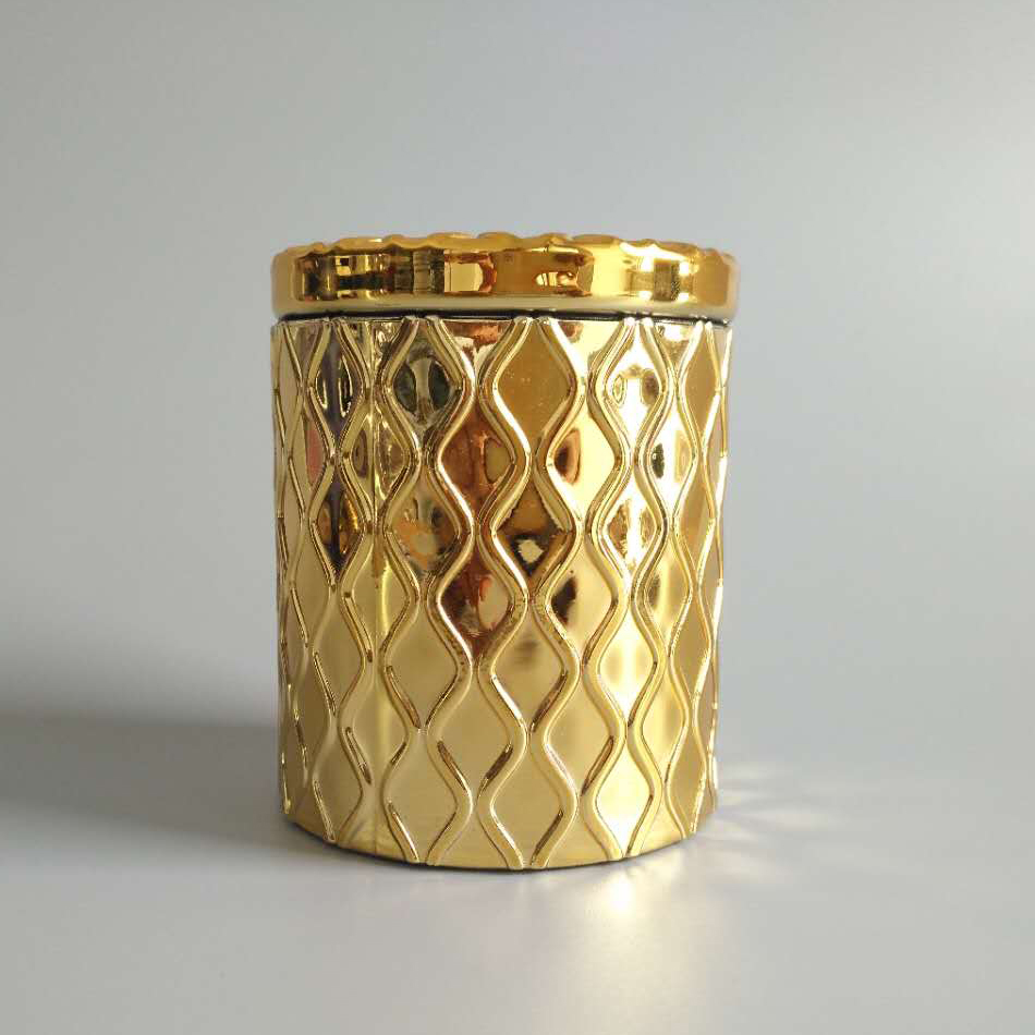 Airtight Gold Glass Candle Jar2