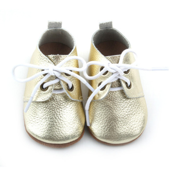New Styles Real Leather Baby Gold Zapatos Oxford