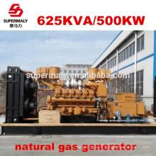 Economie d'énergie Générateur de gaz naturel de qualité fiable 500kw par technologie de pointe