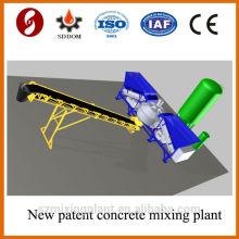 Placa plana MD1800 10-16m3 / h concreto concreto móvel, planta de mistura concreta. Planta de concreto
