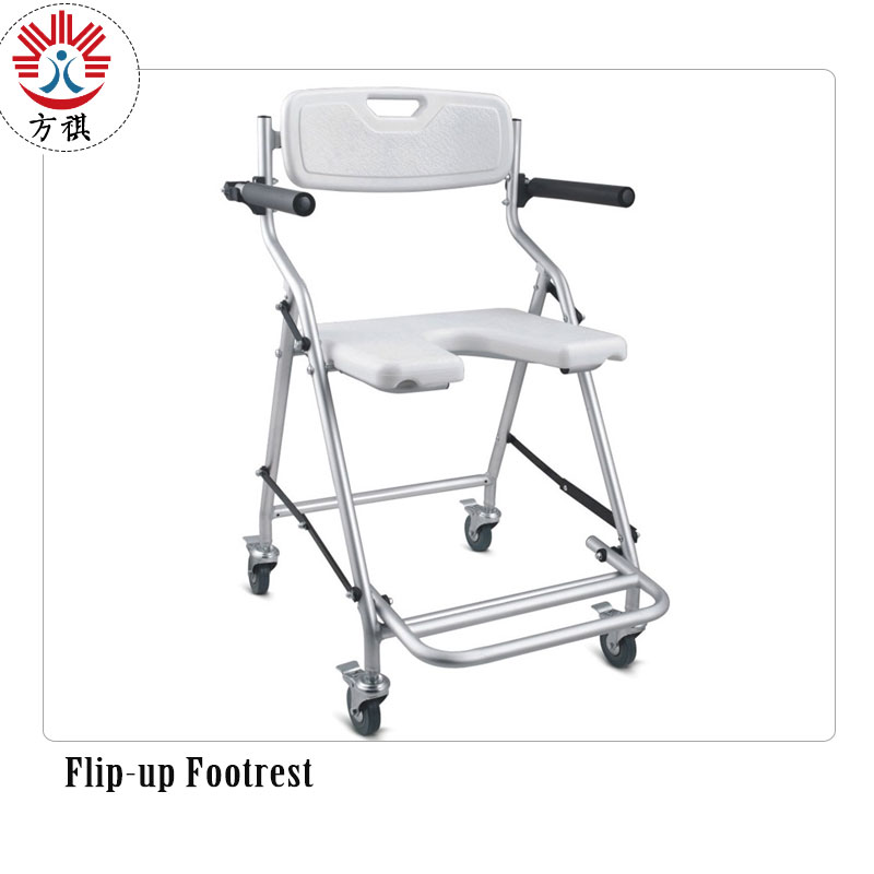 Shower Chair With Wheels Footrest