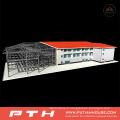 Entrepôt en acier à grande structure avec installation facile