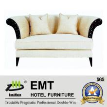 Sofá doble del hotel del diseño Sofá doble fijado (EMT-SF31)