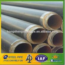 Anti-corrosión 3PE ERW recubierto api5l lsaw tubos de acero