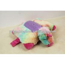 ¡GRAN VENTA! Nuevo diseño relleno peluche de unicornio colorido en forma de juguete de proyección