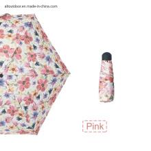 Manual 5 Folding Umbrella Floral Print Mini Pocket Umbrella with Customized