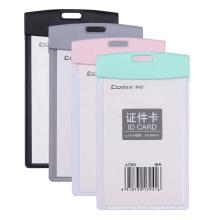 Comix colorful hard plastic custom vertical horizontal badge card holder
