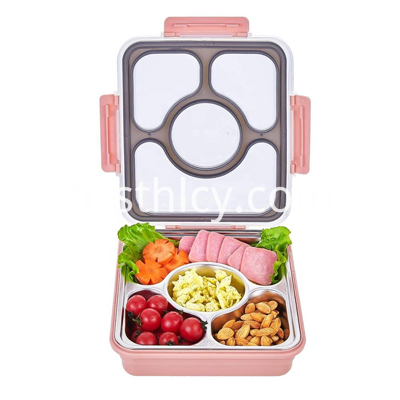 304 Stainless Steel Bento Lunch Box For Kids