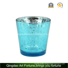 Electroplating Mercury Glass Candle Holder for Christmas Decoration