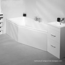 Banho de chuveiro acrílico com canto acentuado com vidro fácil para imersão