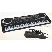 OEM Kids Children Multifunctional Musical Electronic Piano Keyboard with Microphone