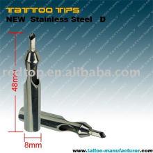 Alta calidad Cerrar la punta plana del tatuaje de la magnum