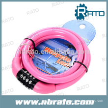 RBL-110 Pink Child Bicycle combination lock